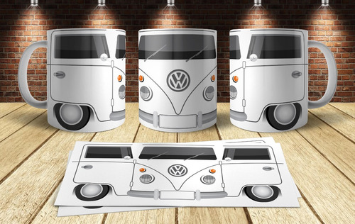 plantillas sublimación tazas - autos combi volkswagen