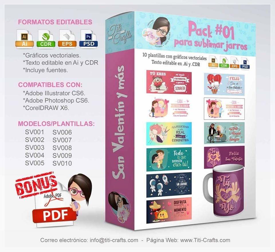 Plantillas Sublimacion Tazas Dia Amor Amistad Enamorados - $ 8.000 ...