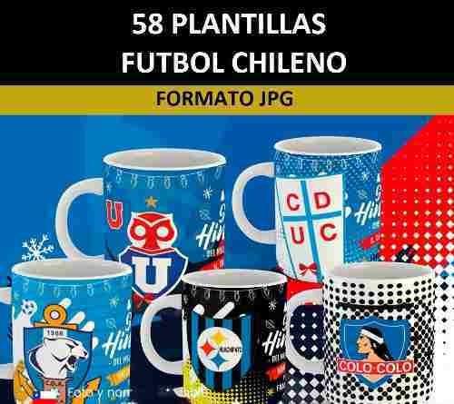 plantillas sublimación tazones - fútbol chileno / 59 diseños