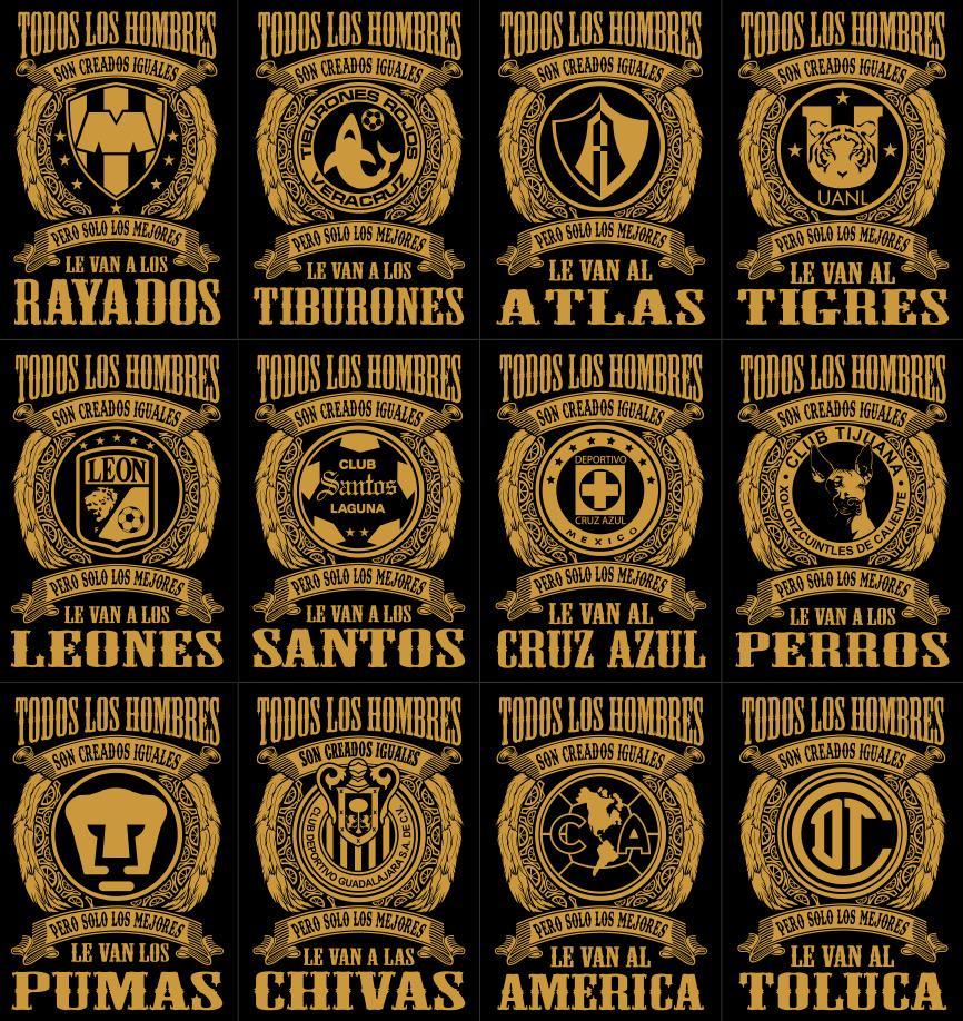 Plantillas Taza Camiseta Equipos Futbol Mexicano -   49.00 en ... e494287dec8fe