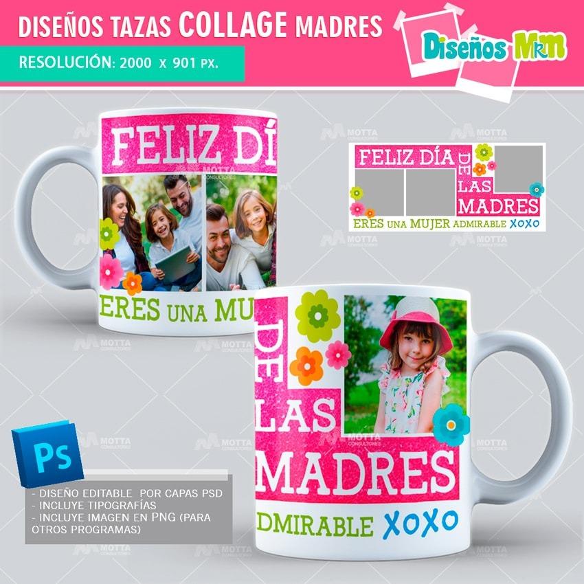 Plantillas Taza Sublimación Collage Dia De La Madre Motta - $ 284,00 ...
