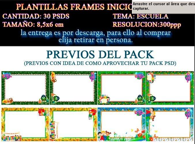 Plantillas Templates Marcos Primer Dia De Clases Psd 6x - $ 100.00 ...