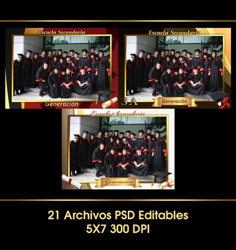 plantillas templetes escolares 5x7 psd photoshop