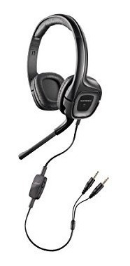 plantronics 79730-41 auriculares con cable, negro