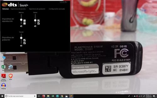 plantronics d100-m, modelo: d100y   microsoft lync