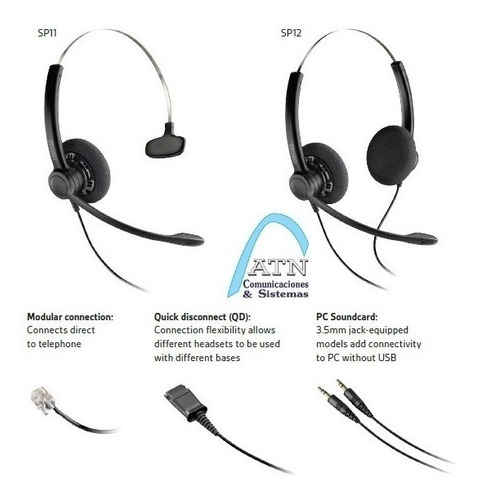plantronics sp11, headset vincha cabezal auricular para t110