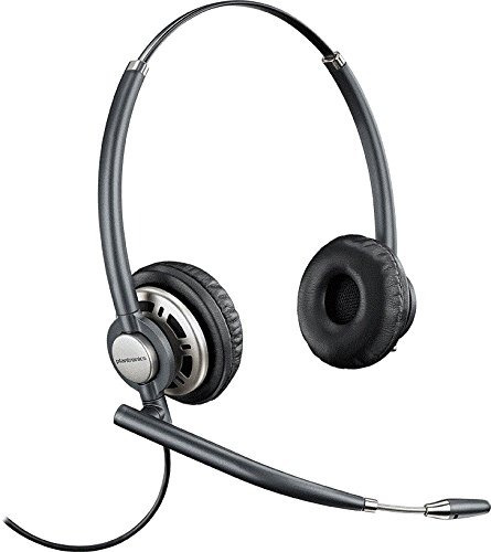 plantronics wired headset negro