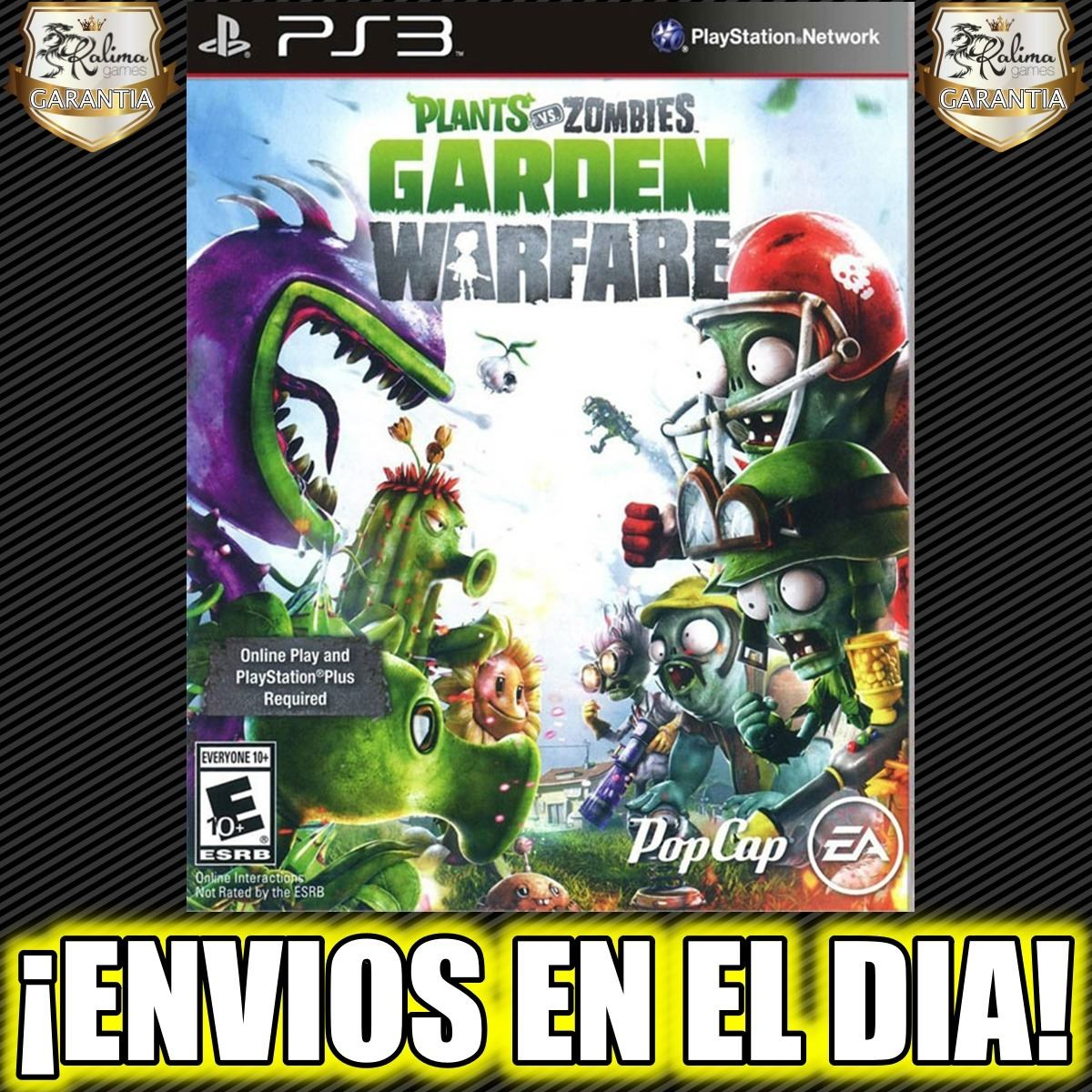 Plants Vs Zombies Garden Warfare Ps3 Juego Playstation Stock 75