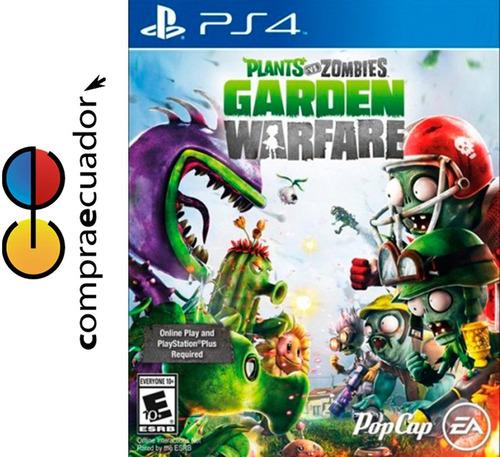 plants vs zombies garden warfare ps4 juegos originales