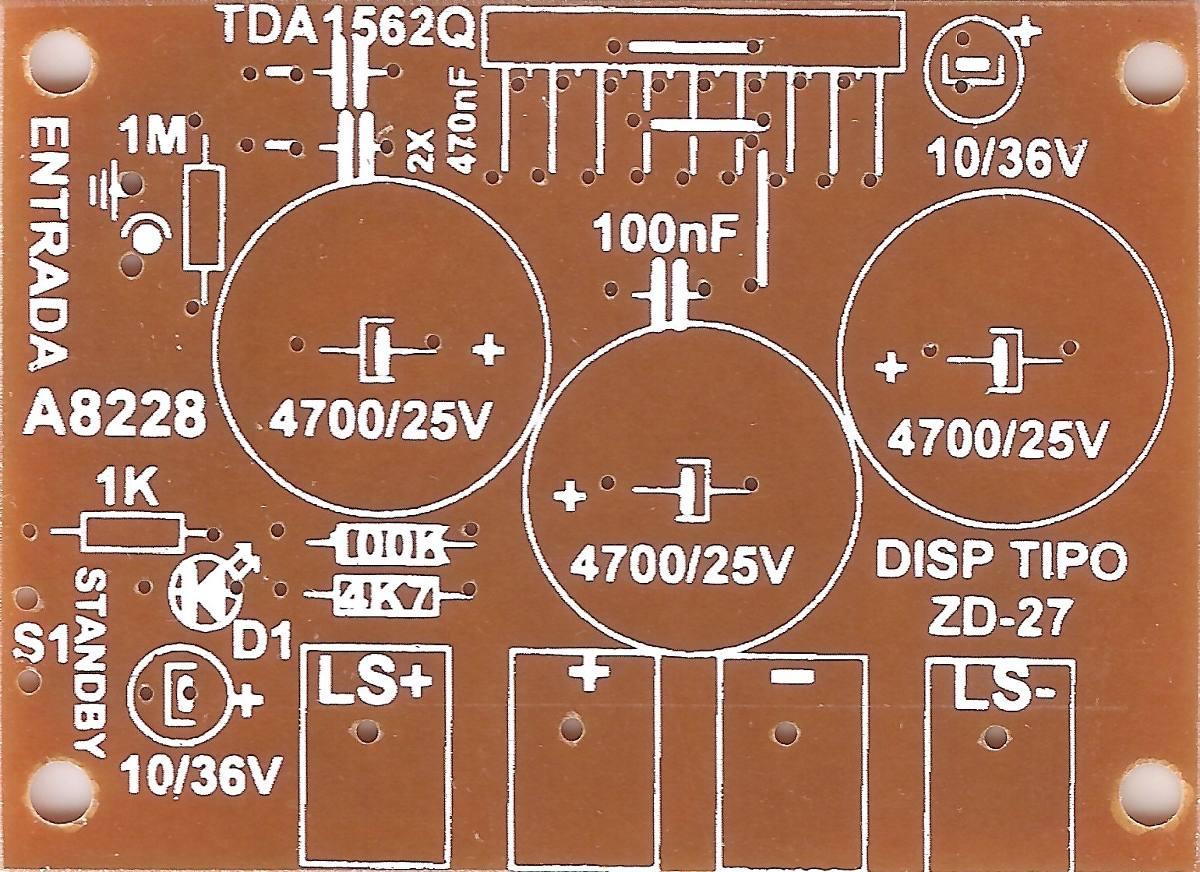 Circuito Impreso : Plaqueta circuito impreso amplificador w v tda q a