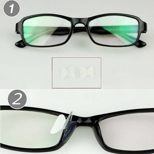 plaqueta suporte almofadas em silicone p/ óculos de acetato