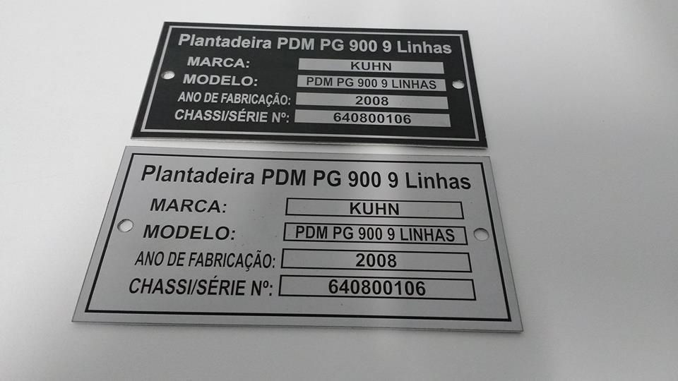 Plaquetas placas de identifica o em alum nio ou inox r - Placas de aluminio ...