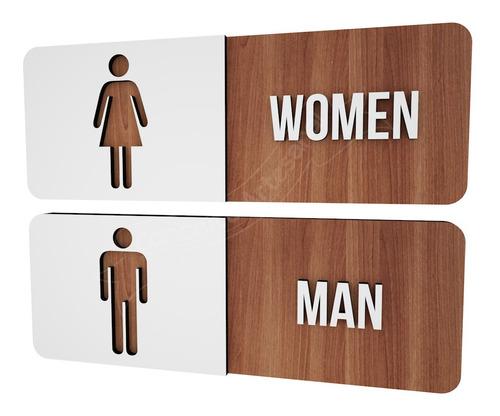 plaquinha banheiro feminino masculino empresa lounge