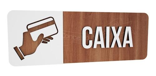 plaquinha caixa hotel empresa bar lounge cafeteria escola