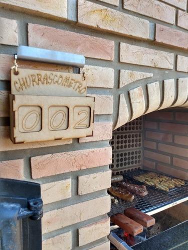 plaquinha de churrasco, churrasqueira, marcador de churrasco