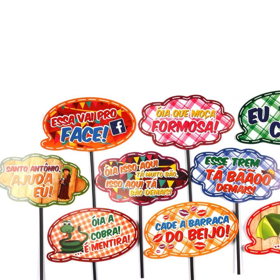 Plaquinhas Animadas Mix Festa Junina 10un R 1645 Em Mercado