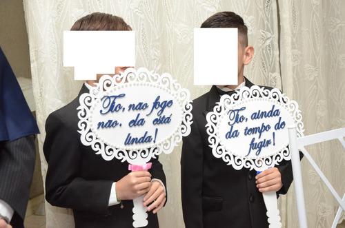 plaquinhas de casamento