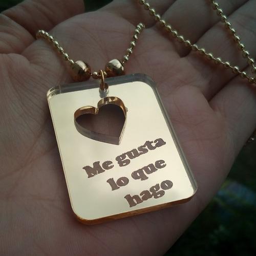 plaquita personalizados, corazones,zarcillos y collares
