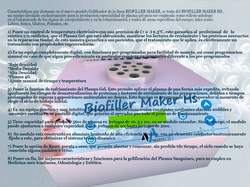 plasma gel, filler autólogo, biofiller maker, plasmagel