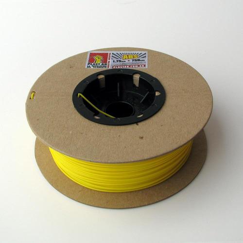 plast.ar - filamento impresión 3d- abs/amarillo/ø1,75/750grs
