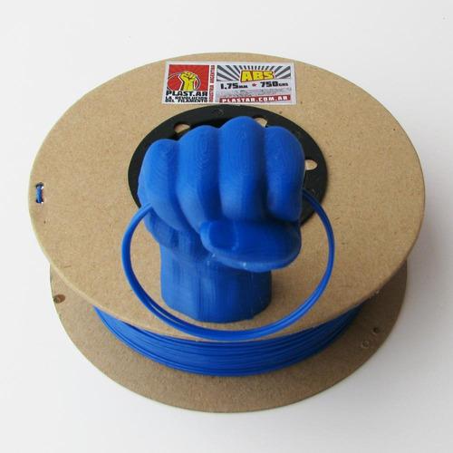 plast.ar - filamento impresión 3d - abs/azul/ø1,75/750grs.