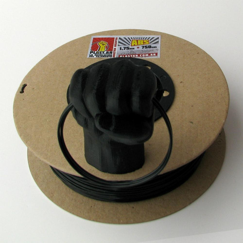 plast.ar - filamento impresión 3d - abs/negro/ø1,75-750grs