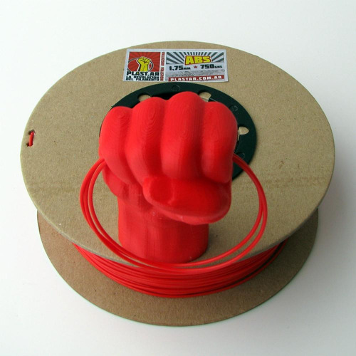 plast.ar - filamento impresión 3d - abs/rojo/ø1,75/750grs.