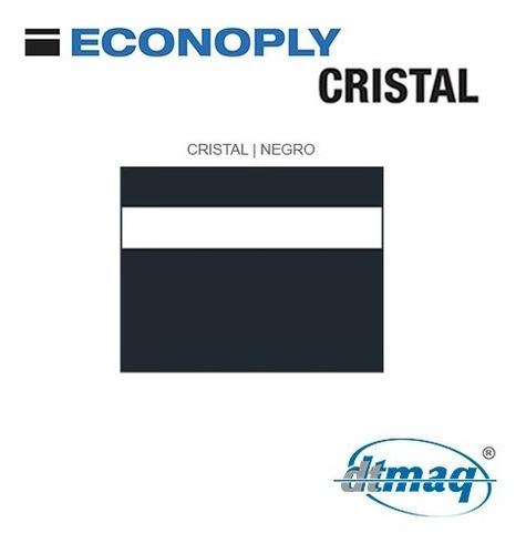 plástico bicapa laserable econoply cristal / negro 60x40cm
