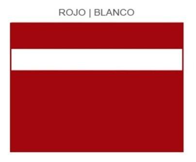 plástico bicapa laserable econoply rojo / blanco 60x40cm