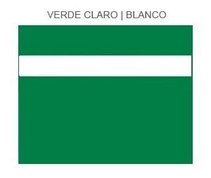 plástico bicapa laserable econoply verde claro blanco 60x40