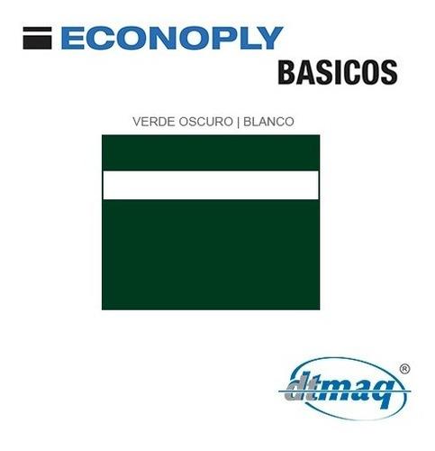 plástico bicapa laserable econoply verde oscuro blanco 60x40