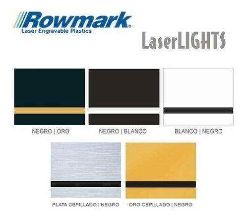 plástico bicapa laserable rowmark laserlights placa 60x30cm