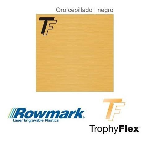 plástico bicapa laserable rowmark trophy autoadhesivo x10