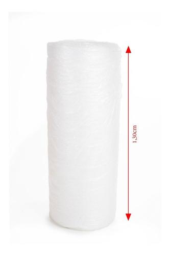 plastico bolha bobina 1,30x050 metros 25 micras thyffy