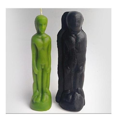 plástico hombres mujeres forma jabón vela molde molde para