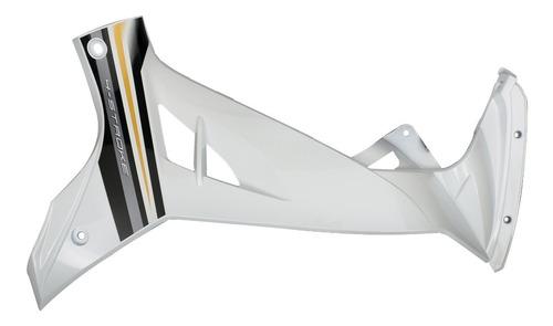 plastico lateral derecho blanco yamaha crypton 110 + calco