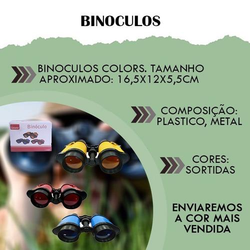plastico metal binoculos colorido espião camping
