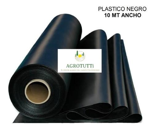 plástico negro 10 mts calibre 7  x 10 mts largo estanques