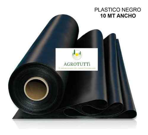 plástico negro 10 mts calibre 7  x 50 mts largo estanques