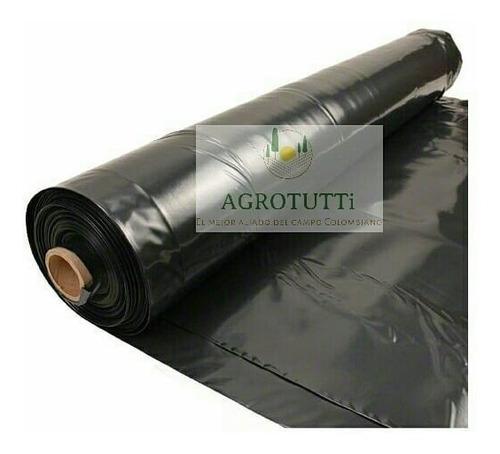 plástico negro  8 mts de ancho calibre 6  x 50 mts largo
