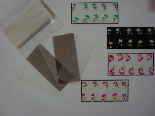 plástico para adesivos de unha