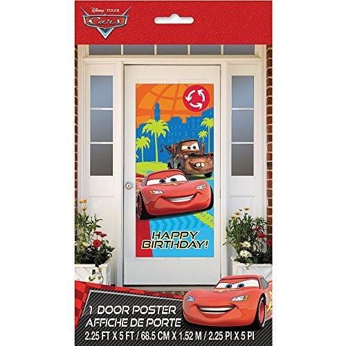 plástico puerta disney cars cartel, 60 \x 27\