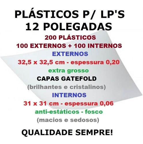plásticos lps capa gatefold 100 externos 0,20 + 100 internos