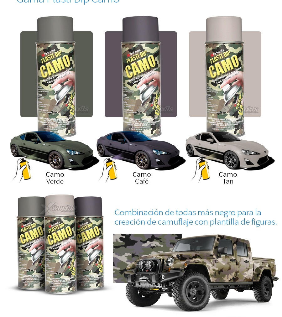 Plastidip Camo Green, Tan, Brown - $ 185.00 en Mercado Libre