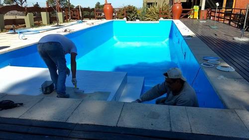 plastificado de piscinas, reparación de piletas de natación.