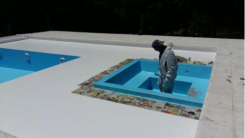 plastificado de piscinas.  reparación de piletas y tanques.