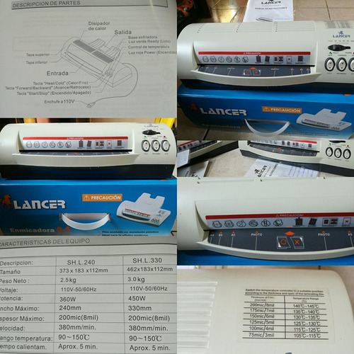 plastificadora a3 profesional metalica laminator vip acero