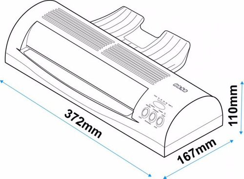 plastificadora laminadora lm240 oficio-carta-a4+ 200 pouch