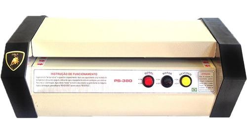 plastificadora ps-280 + 200 polaseal rg e crachá ou cpf