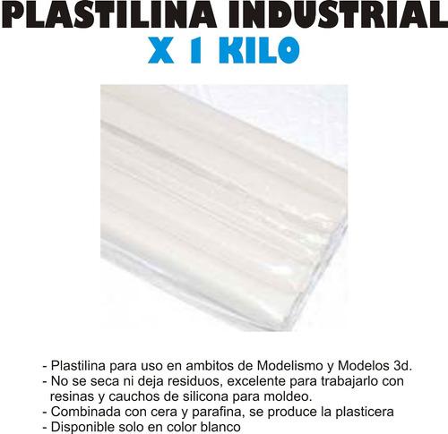 plastilina industrial para moldes modelismo x 1kg esculpir